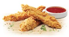 These chicken strips will match the flavour of the KFC Crispy Strips and satisfy your fast food craving, whether its a meal of these crispy strips with fries and KFC Chip Seasoning and KFC Coleslaw or to make a KFC Twister with Pepper Mayo.