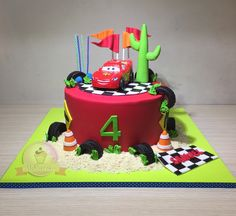 Torta Cars. Torta Rayo Mc Queen