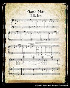 Piano Man Sheet Music and Lyrics  Bill Joel  Music by no9images, $15.00