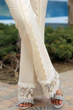 winter 2020 trouser design for girls latest trouser pant designs new palazzo p Pakistani Dresses Casual, Pakistani Dress Design, Kurti Designs Party Wear, Salwar Designs, Fashion Pants, Fashion Dresses, Designs For Dresses, Indian Designer Wear, Stylish Dresses