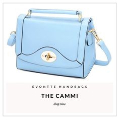We have some beautiful bags online now by @evontte | How cute is this Cammi bag in blue?? 🙌