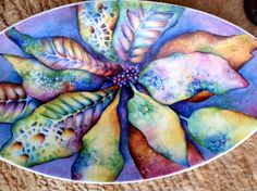 Fantasy leaves painted on China by Mark Jones