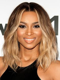 Ciara's standout honey blonde highlights brighten up her beachy, textured bob. Ask your colorist for an ombré spectrum, leaving roots darkest and your tips sunny blonde.Photo Credit: Getty Images, courtesy of iVillage - via StyleListCanada