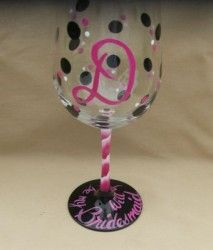 image 1 leftover wine bridesmaid wine glasses bisque pottery hand painted wine glasses
