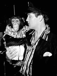 """EP with his pet chimp """"Scatter"""""""