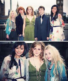 luna, ron, hermione, harry, cho