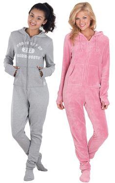 Varsity & Pink Hoodie-Footie™ Loungewear | Pajamagram