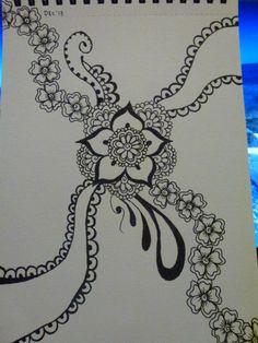 Black felt tip pen, size A5. Artwork by Bronwyn Ball.