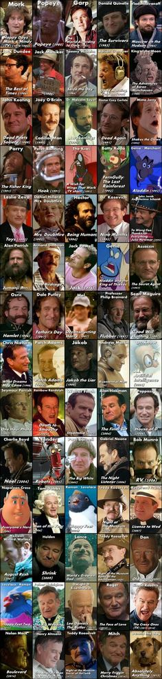 The Many Faces of Robin Williams 1951 - 2014 by CeruleanRuin