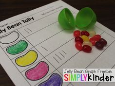 Free Jelly Bean Math Printables from Simply Kinder!What exactly Are classified as the Best Items intended for Easter Activities, Spring Activities, Holiday Activities, Preschool Activities, Nanny Activities, Preschool Projects, Preschool Printables, Preschool Math, Teaching Kindergarten