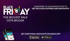 Black Friday Discounts - Black Friday Deals 2017 in Pakistan - Daraz. Blessed Friday, Face Book, Black Friday Deals, Pakistan, How To Get, Yearbook Spreads