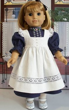 Early 1900's lacey pinafore and frock by Keepersdollyduds, via Flickr