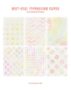 Freebie – Printable Mist-ical journaling cards. [Inspired by Jessica Sprague and Nisa Fiin - links inside]