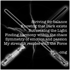 """#octpowrimo Day 19: choose something or someone and give them a double life. In my other life, I am a gray Jedi, struggling between Dark and Light.…"""