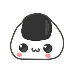 Cute Food Drawings, Cute Kawaii Drawings, Art Drawings Sketches Simple, Easy Drawings, Anime Stickers, Cute Stickers, Panda Sushi, Cute Cartoon Food, Sushi Drawing