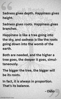 The oak grew roots deep...unmoved. No fierce wind, no weight of the world changed it. When the drought came, instead of withering away...the roots grew deeper and it became MORE. ; )