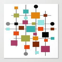 Mid Century Modern Art, Mid Century Art, Framed Art Prints, Canvas Prints, Quilt Modernen, Geometric Art, Soft Colors, Mid-century Modern, Mandala