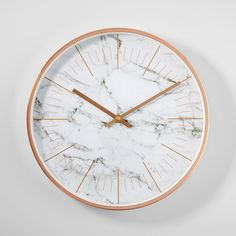 Rose Gold Border Simple Marble Wall Clock - All For Decorations Room Decor Bedroom Rose Gold, Marble Room Decor, Marble Bedroom, Rose Gold Rooms, Rose Gold Decor, Marble Wall, Home Decor Bedroom, Bedroom Wall, Bedroom Ideas