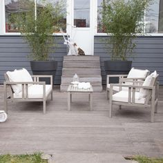 Salon de jardin en bois, Collection Adonia - CASTORAMA | Terrasse ...
