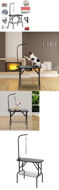 grooming tables heavy duty foldable pet dog grooming table nonslip surface portable
