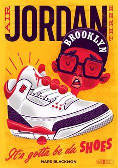 Air Jordan III art print in Retro Illustration Air Jordan 3, Jordan Shoes, Jordan Retro, Sneaker Posters, Sneakers Wallpaper, Shoes Wallpaper, Sneaker Art, Man Logo, Art Images