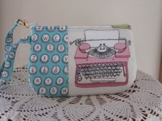Retro Typewriter Clutch Wristlet Zipper by Antiquebasketlady, $11.99