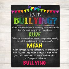Anti Bully Poster, Classroom Decor, Counselor Office Decor Poster, Educational C. School Counselor Office, School Guidance Counselor, Counseling Office Decor, Elementary School Counseling, Classroom Decor, Principal Office Decor, School Office, Classroom Borders, Pta School