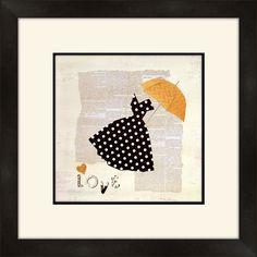 Dress and Umbrella Framed Graphic Art