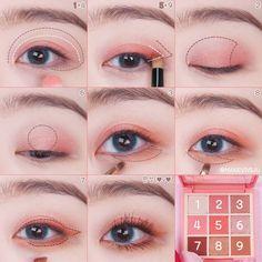 Pin on make up Korean Makeup Tips, Asian Eye Makeup, Korean Makeup Tutorials, Kawaii Makeup, Cute Makeup, Pretty Makeup, Makeup Tutorial Eyeliner, Eyeshadow Makeup, Makeup Cosmetics