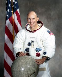 """Thomas Kenneth """"Ken"""" Mattingly II, (born March 17, 1936) is a retired American astronaut, Naval Aviator and Rear Admiral in the United States Navy who flew on the Apollo 16, STS-4 and STS-51-C missions. He had been scheduled to fly on Apollo 13, but was held back due to concerns about a potential illness (which he did not contract). He later flew as Command Module Pilot for Apollo 16, making him one of only 24 people to have flown to the Moon."""