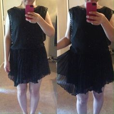 Pretty unbalance skirts dress!!! Wear only one time. It will fit the person who size 2 or 4 ! Nice dress! If you have any questions feel free to ask!  Cheaper on ♏️ercari ( if you sign up with my invite code, you will get $2. My invite code is HDVPSE ) From Korea  Dresses