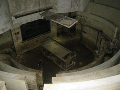 The autopsy theater near the morgue in the basement of New Orleans Charity…