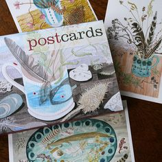 Angie Lewin Watercolour postcards