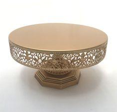 Dark Gold - Vintage with Filigree Design -  Pedestal -1 Tier Cake Stand - Code GD002 Filigree Design, 1 Tier Cake, Pedestal, Cake Stands, Different Cakes, Dark, Dessert Table, Gold, Vintage