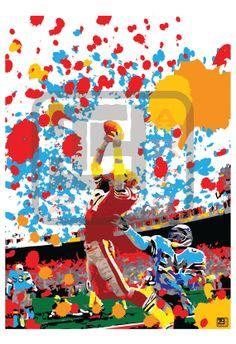 Dwight Clark The Catch Pop Art Print by tyart2479 on Etsy, $7.00