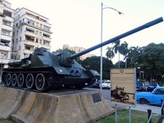 The tank Fidel Castro used during failed U.S.-backed Bay of Pigs invasion. Photo taken by Brian Kaylor during a trip for the COEBAC's 40th anniversary celebration at Iglesia Bautista Enmanuel (Emmanuel Baptist Church) in Ciego de Ávila, Cuba.