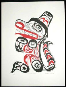 """'Haida Wolf"""" by Lyle Campbell"""