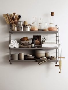 Méchant Studio Blog: bathroom time String Pocket Shelf, grey.