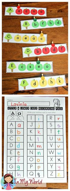 FREE Back to School Literacy Centers for Kindergarten. Upper and lower case letter matching activity. Kindergarten Freebies, Kindergarten Centers, Kindergarten Reading, Preschool Learning, Kindergarten Classroom, Classroom Ideas, Abc Centers, Reading Centers, Letter Activities