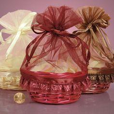 Basket Organza Bags