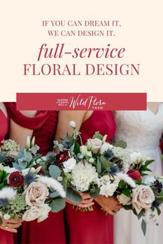 From romantic, garden-inspired bouquets to elaborate hanging installations and ceremony backdrops, beautiful floral design is what Wild Floral Farm in North Carolina does best. You and your guests will be blown away by the gorgeous flower designs created by the floral design studio team. Request a design consultation with Wild Flora Farm and watch as they take you from dreams and Pinterest boards to your beautiful bouquet and floral arrangements. Wedding Hair Flowers, Flowers In Hair, Wedding Bouquets, Floral Centerpieces, Wedding Centerpieces, Floral Arrangements, Farm Wedding, Wedding Tips, Wedding Ceremony