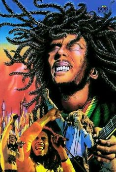 *Bob Marley* More fantastic collages, pictures and videos of *Bob Marley* on… Arte Bob Marley, Reggae Bob Marley, Dancehall Reggae, Reggae Music, Reggae Artists, Music Artists, Bob Marley Painting, Bob Marley Pictures, Reggae Style
