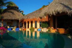 Casa Calabaza - San Pancho, Mexico - Luxury Beachfront 4 bedroom villa - For information and reservations click here: http://www.sanpanchorentals.com/4bedroom/casa_calabaza.html