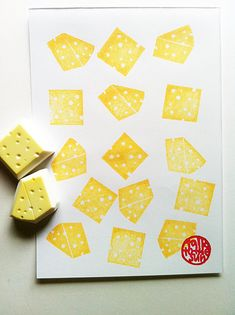 swiss cheese rubber stamp set. cheese hand carved rubber stamp. cooking packaging stamp. holiday crafts. set of 2