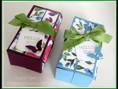 Double Flip Large Gift Box with Watercolor Wings, Video Tutorial - YouTube