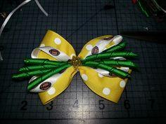 Baylor football toddler hair bow