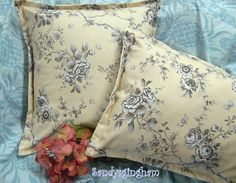 RADCLIFF ROSE Pair 2 Custom Made KING Pillow Shams by Sew1Pretty