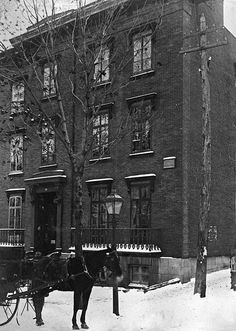 Apartment house, 40 McGill College Avenue, Montreal, QC, 1886. #vintage #Canada #Victorian #streets