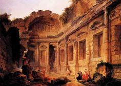 Hubert Robert, Interior of the Temple of Diana