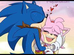Sonic The Hedgehog, Hedgehog Movie, Hedgehog Art, Shadow The Hedgehog, Amy Rose, Sonic Y Amy, Tails Doll, Sonamy Comic, Shadow And Amy